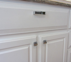 Alno Hardware On White Cabinets
